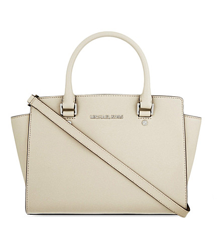 MICHAEL MICHAEL KORS Selma medium leather satchel (Cement