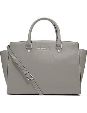 MICHAEL MICHAEL KORS Selma large leather satchel