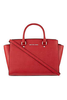 MICHAEL KORS Selma saffiano leather messenger