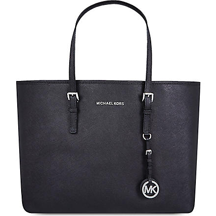 MICHAEL KORS Jet Set medium multifunctional tote (Black