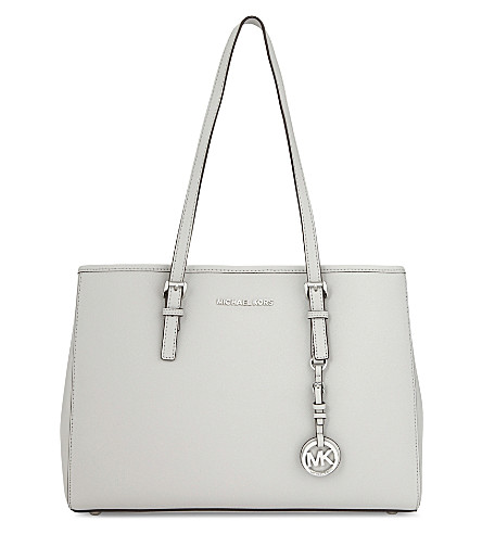 MICHAEL MICHAEL KORS Jet Set Travel large leather tote (Aluminum