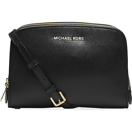 MICHAEL MICHAEL KORS Reese saffiano leather cross-body bag (Black