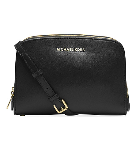 MICHAEL MICHAEL KORS Reese saffiano leather cross-body bag (Black