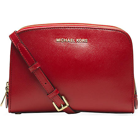 MICHAEL MICHAEL KORS Reese saffiano leather cross-body bag (Scarlet