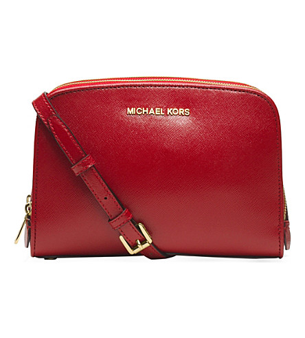 MICHAEL MICHAEL KORS Reese saffiano leather cross-body bag (Scarlet