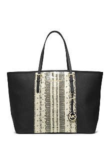 MICHAEL KORS Jet Set animal-print tote