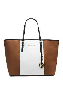 MICHAEL KORS Jet set contrast panel tote