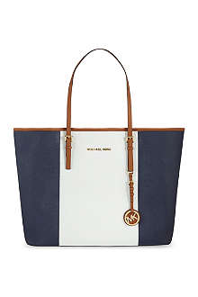 MICHAEL MICHAEL KORS Jet Set travel centre stripe tote