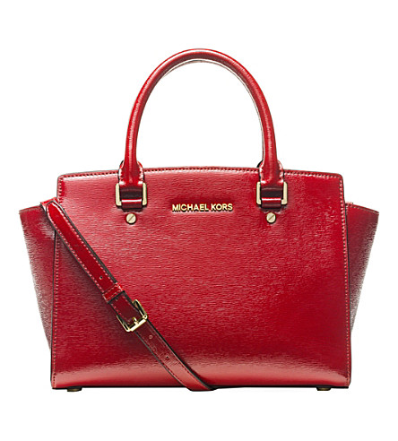 MICHAEL MICHAEL KORS Selma leather satchel (Scarlet
