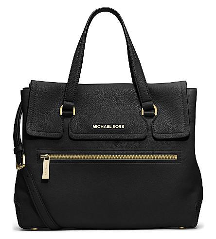 MICHAEL MICHAEL KORS Mackenzie leather satchel (Black
