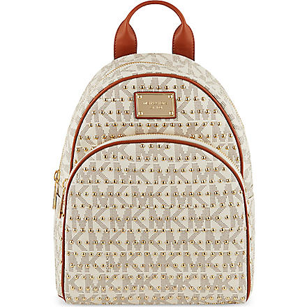 MICHAEL MICHAEL KORS Jet Set studded backpack (Vanilla