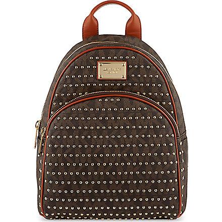 MICHAEL MICHAEL KORS Jet Set studded backpack (Brown