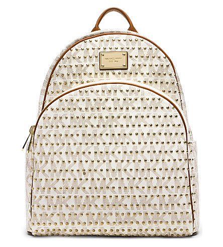 MICHAEL MICHAEL KORS Jet set studded backpack (Vanilla