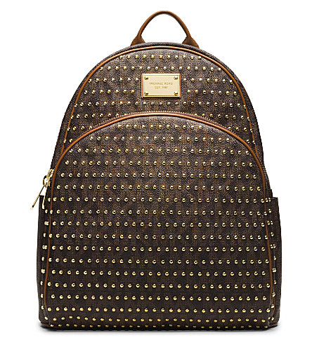 MICHAEL MICHAEL KORS Jet set studded backpack (Brown