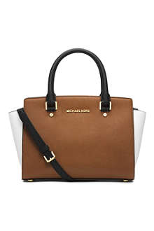 MICHAEL MICHAEL KORS Selma leather messenger bag