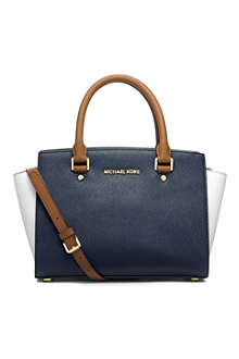 MICHAEL KORS Selma leather messenger bag