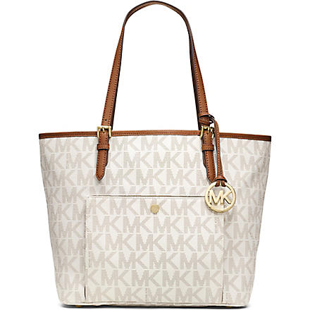 MICHAEL MICHAEL KORS Jet set snap pocket tote bag (Vanilla
