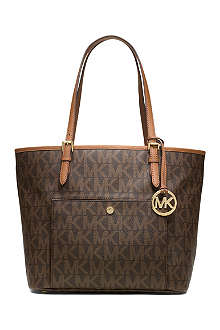 MICHAEL KORS Jet Set snap pocket tote
