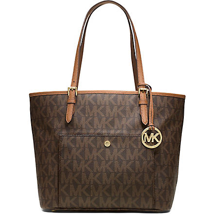 MICHAEL MICHAEL KORS Jet Set snap pocket tote (Brown