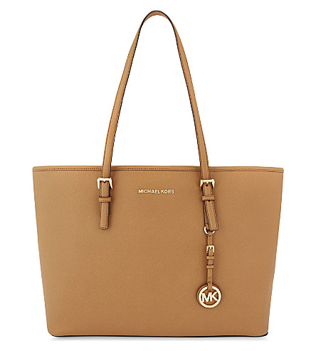 MICHAEL MICHAEL KORS Jet Set Travel medium leather tote (Acorn