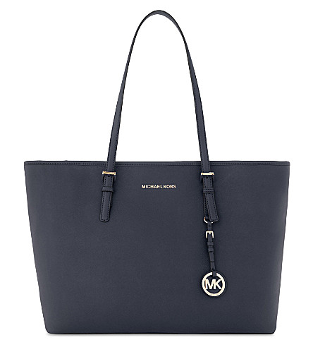 MICHAEL MICHAEL KORS Jet Set Travel medium leather tote (Admiral