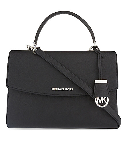 MICHAEL MICHAEL KORS Ava medium Saffiano leather satchel (Black