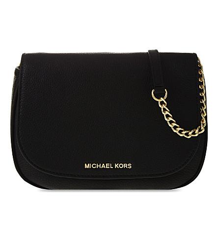 MICHAEL MICHAEL KORS Bedford medium leather saddle bag (Black