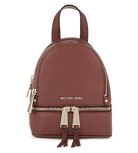 MICHAEL MICHAEL KORS Rhea extra-small leather backpack (Brick