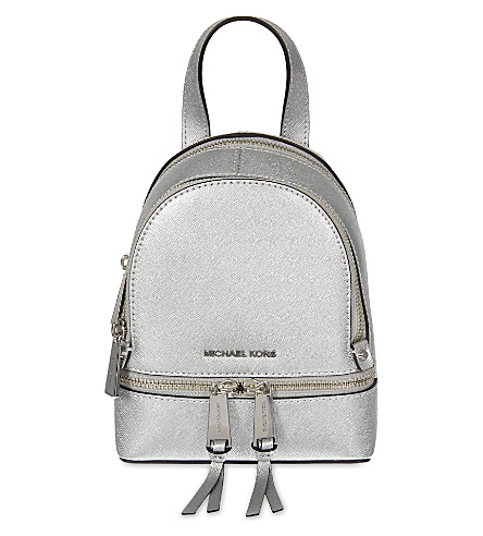 MICHAEL MICHAEL KORS Rhea extra-small leather backpack (Silver