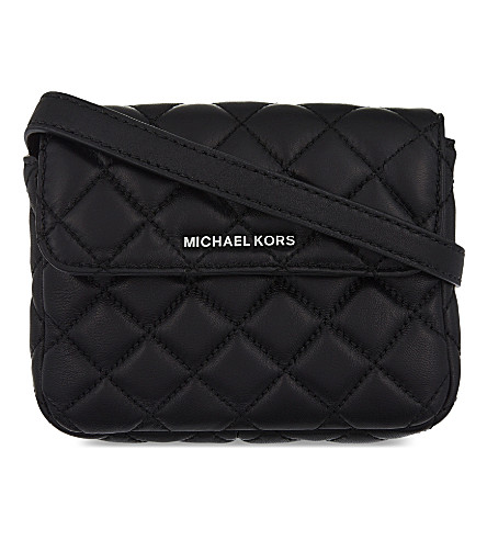 MICHAEL MICHAEL KORS Sloan small quilted leather belt bag (Black