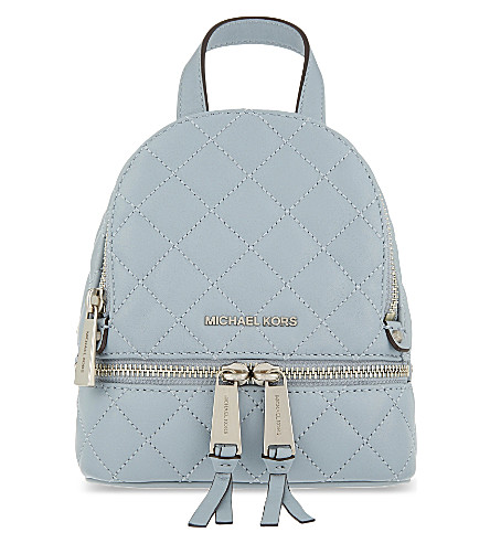 MICHAEL MICHAEL KORS Rhea extra small leather backpack (Dusty blue