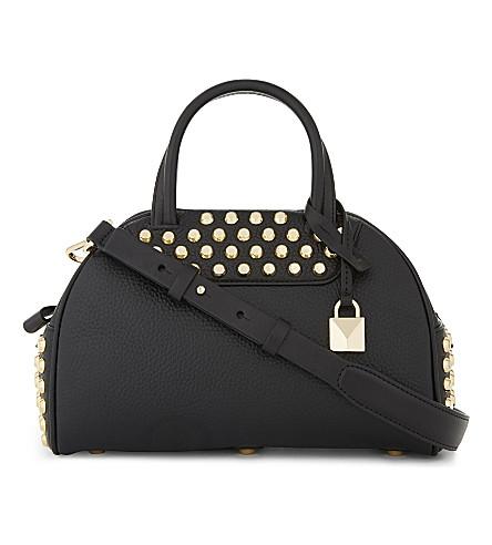 MICHAEL MICHAEL KORS Austin leather bowling bag (Black