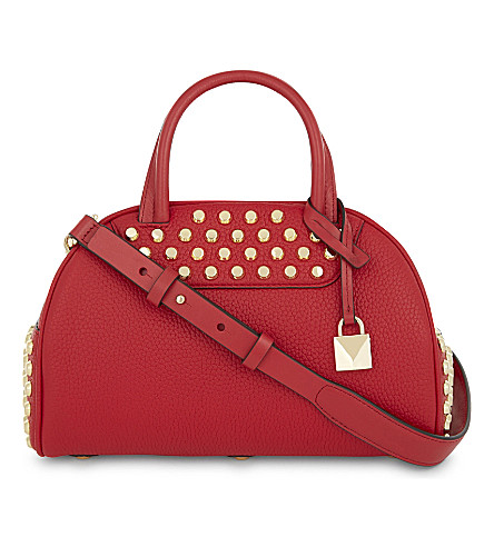 MICHAEL MICHAEL KORS Austin leather bowling bag (Bright+red
