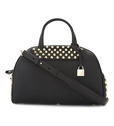 MICHAEL MICHAEL KORS Austin leather studded shoulder bag (Black