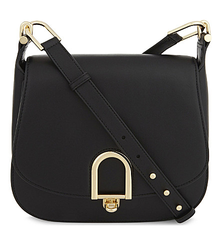 MICHAEL MICHAEL KORS Delfina leather shoulder bag (Black