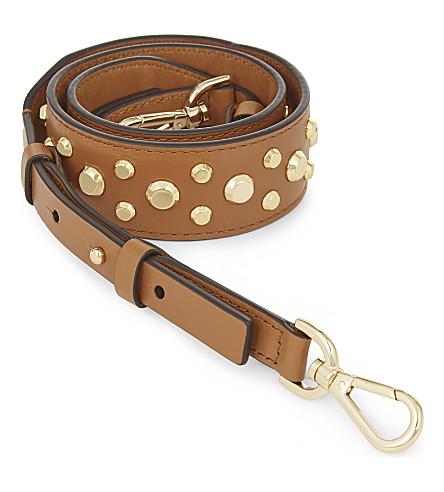MICHAEL MICHAEL KORS Studded leather guitar bag strap (Acorn