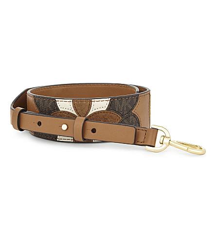 MICHAEL MICHAEL KORS Patchwork leather bag strap (Acorn