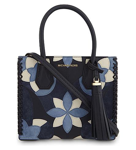 MICHAEL MICHAEL KORS Mercer floral patchwork medium leather shoulder bag (Admiral