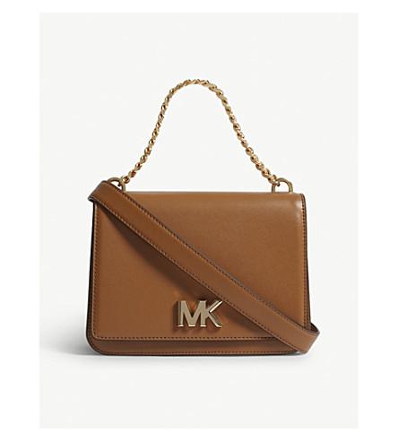 MICHAEL MICHAEL KORS Mott leather clutch (Acorn