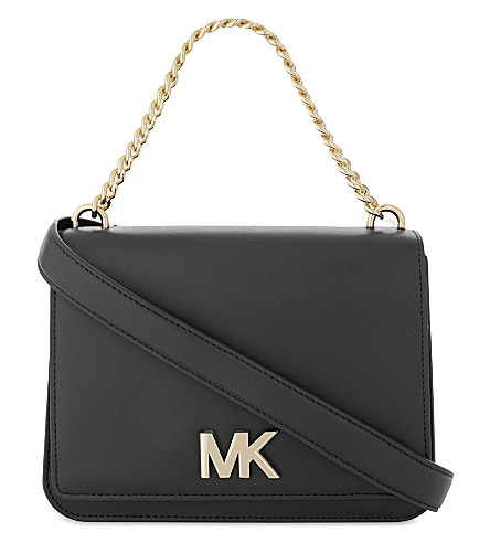 MICHAEL MICHAEL KORS Logo leather shoulder bag (Black