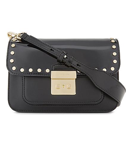 MICHAEL MICHAEL KORS Sloan Editor large leather cross-body bag (Black