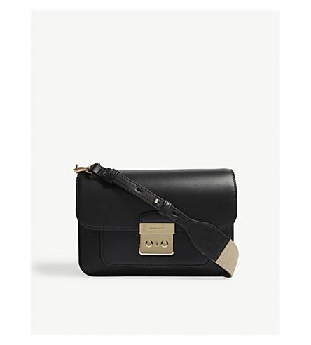 MICHAEL MICHAEL KORS Sloan Editor leather shoulder bag (Black