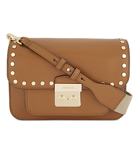 MICHAEL MICHAEL KORS Sloan Editor large leather cross-body bag (Acorn