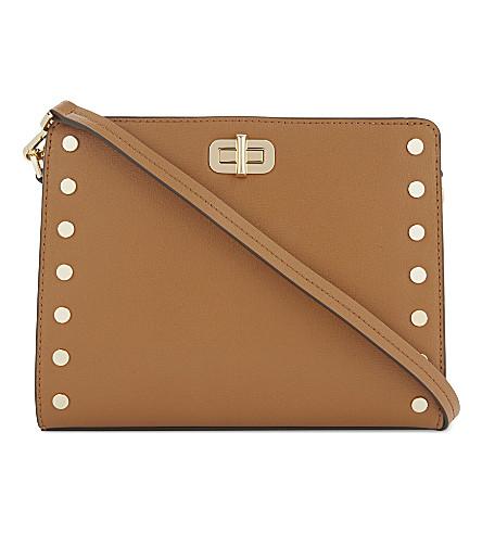 MICHAEL MICHAEL KORS Sylvie leather messenger bag (Acorn
