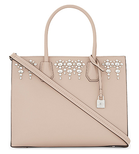 MICHAEL MICHAEL KORS Mercer jewelled leather tote (Ballet