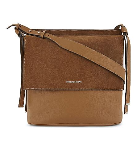 MICHAEL MICHAEL KORS Chambers large grained leather shoulder bag (Acorn