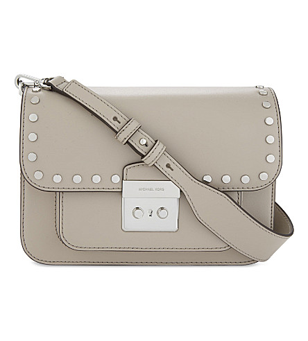 MICHAEL MICHAEL KORS Sloan Editor large leather cross-body bag (Cement