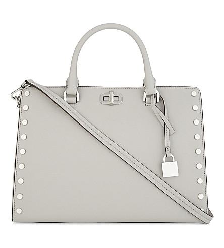 MICHAEL MICHAEL KORS Sylvie medium leather shoulder bag (Aluminum