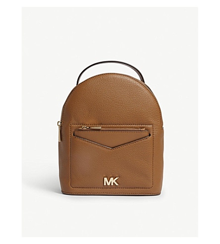 MICHAEL MICHAEL KORS Jessa small leather cross-body backpack (Acorn