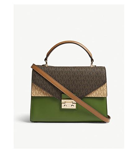 Sloan logo medium leather satchel bag